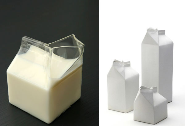 Open Milk Carton This glass carton from rockett