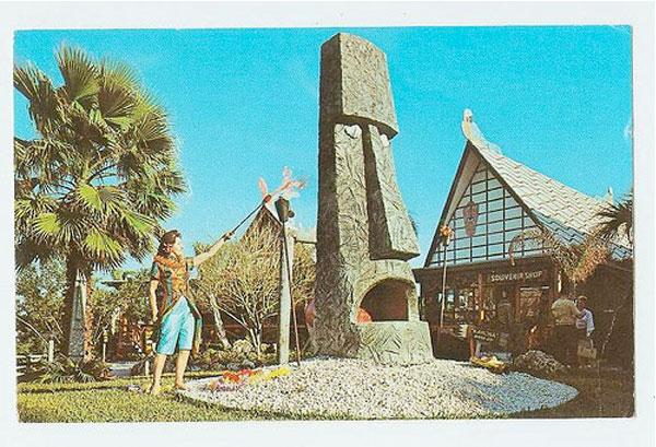 vintage photograph of hawaiian tiki festival