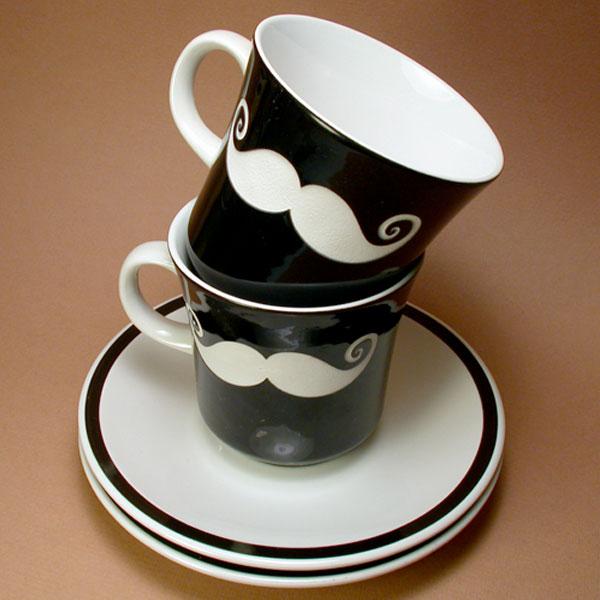 handmade mustache disguise mug