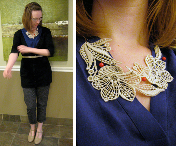 street fashion and handmade necklace by Tree & Kimball