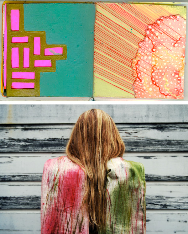 mixed media art by Erica Wells and photography by Lotte van Raalte