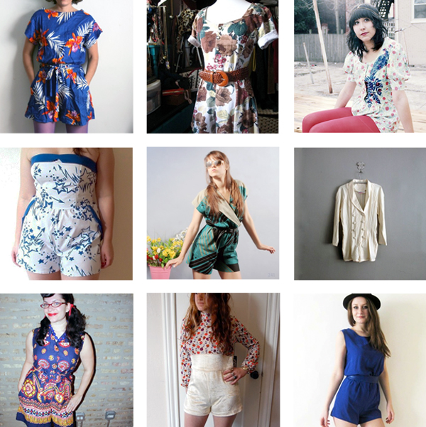 Vintage rompers from Etsy