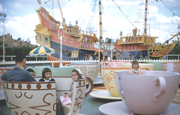 Disneyland teacup ride 1957