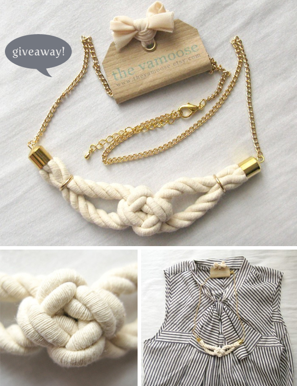 handmade necklace giveaway from The Vamoose