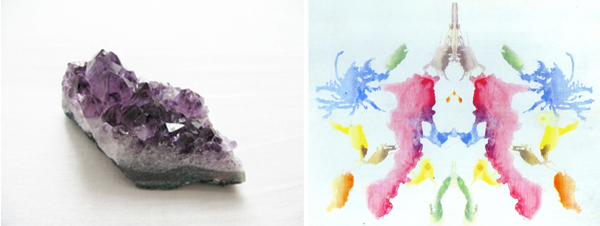 purple geode; watercolor rorschach