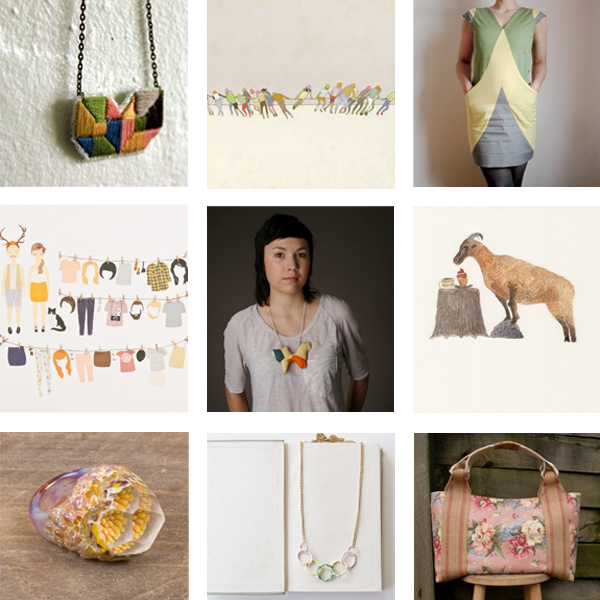 handmade art, craft and fashion from Etsy