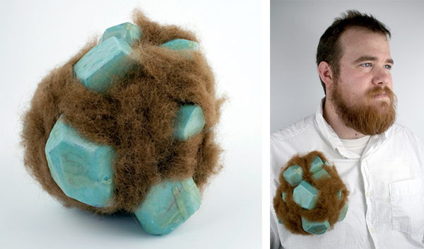hairy brooch by Nick Mullins