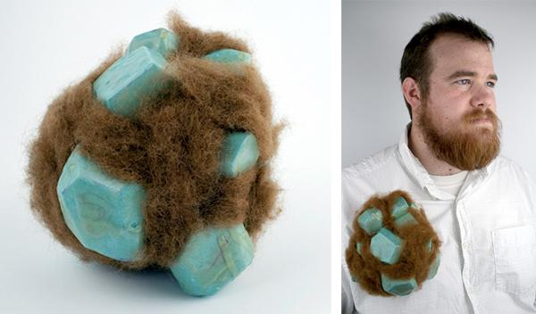 hairy brooch by Nick Mullins