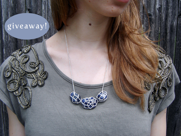 handmade bluestone necklace from Miss Pompadour