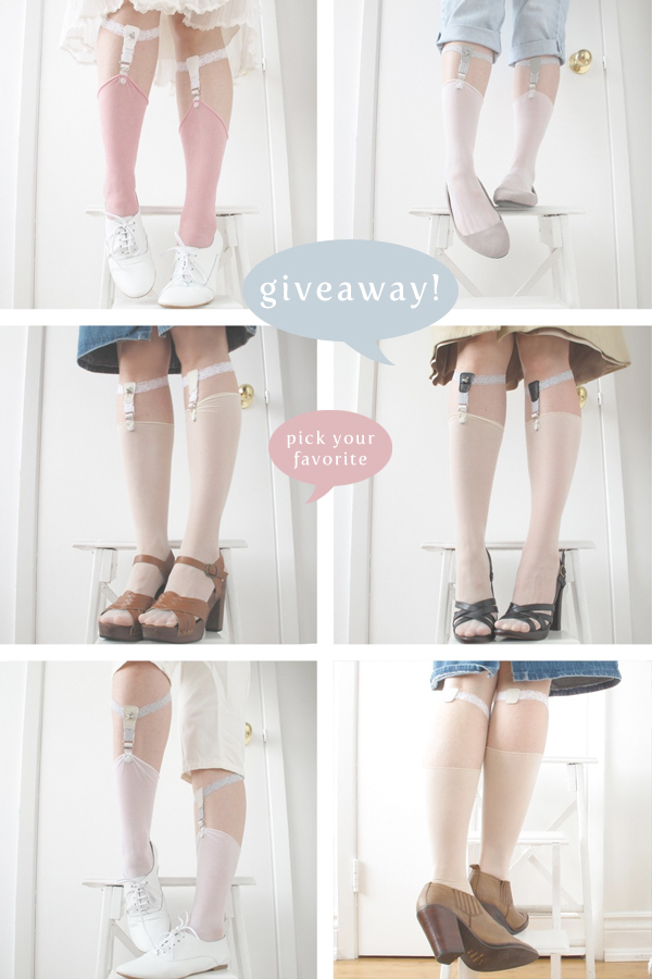 blog giveaway: handmade sock garters from SWANclothing