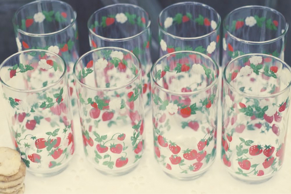 vintage glasses from Pipe & Pepper; photography by Alex Creswell
