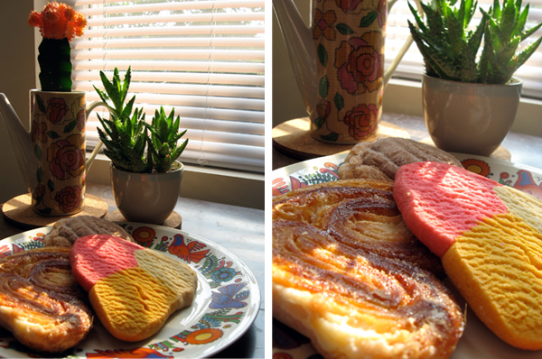 mexican pastries, cactus and aloe vera