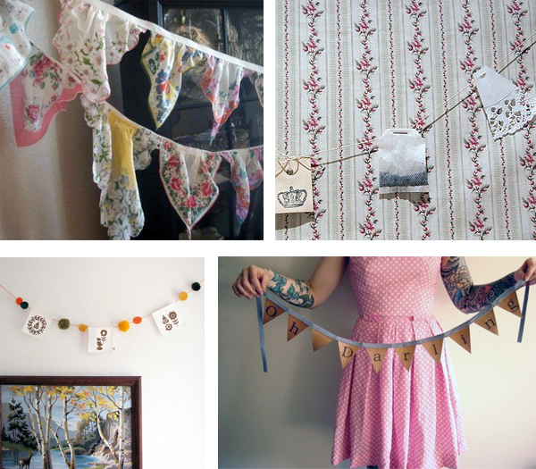 have to decorate our reception handmade banners bunting garland