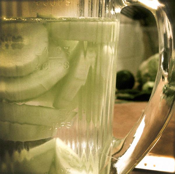 cucumber ice cubes recipe
