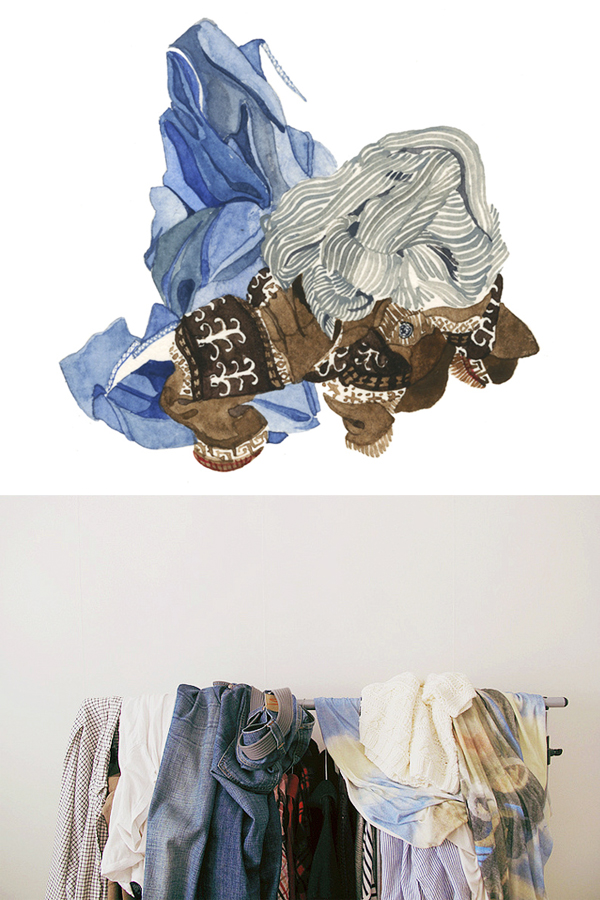 laundry watercolor by vander yacht; laundry photography by malin livestahl