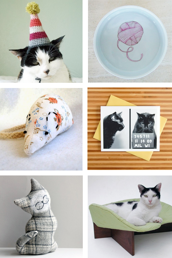 handmade cat crafts from Etsy