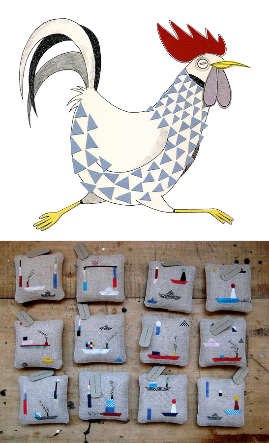 illustration by Cristini Amodeo; pin cushions by Mieke Willems