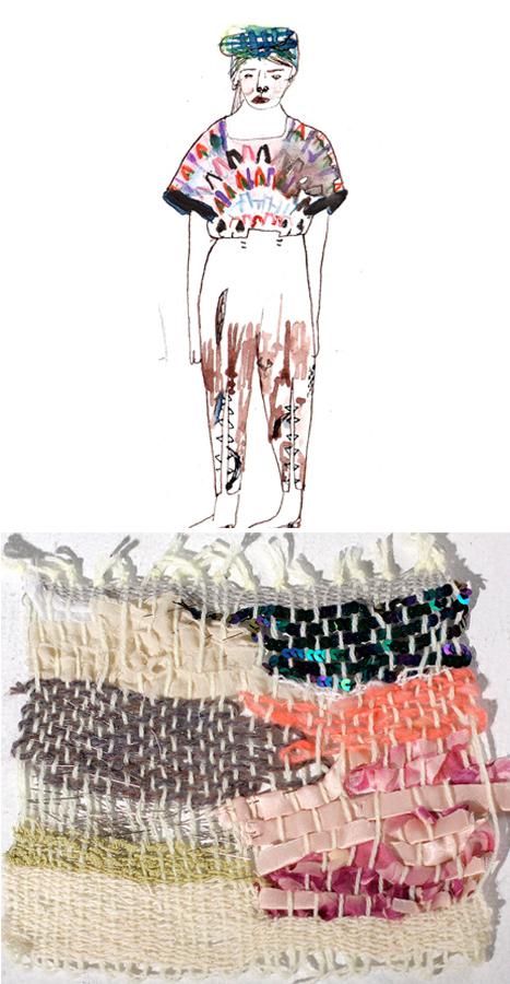 illustration by Yu Yasutake; textile art by Jules Schmid