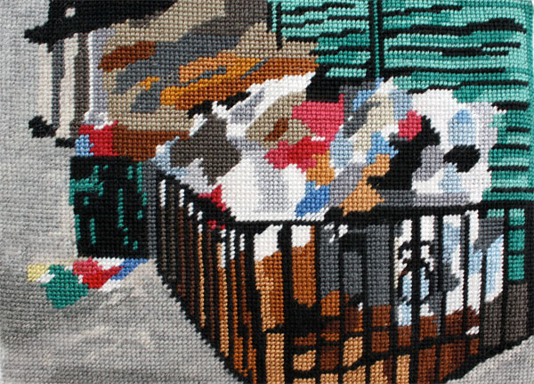 Needlepoint Series: City Trash by Dina Weiss