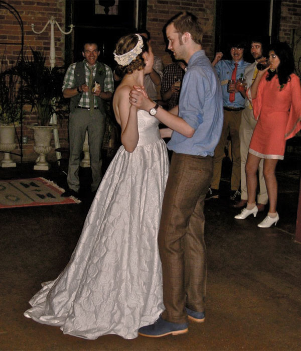 First dance at the wedding of Sarah Ervin and Brian West
