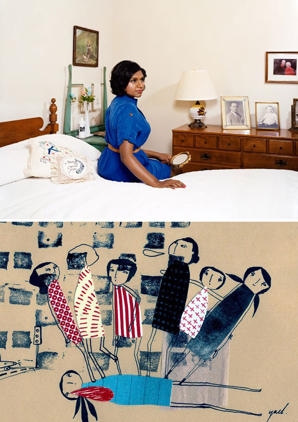 photo of Mindy Kaling by Emily Shur; collage by yaelfran