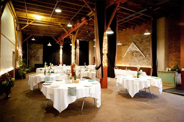West Ervin wedding reception space