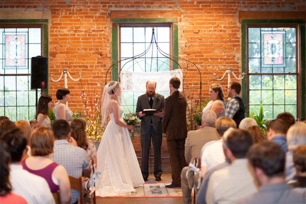 West Ervin wedding ceremony