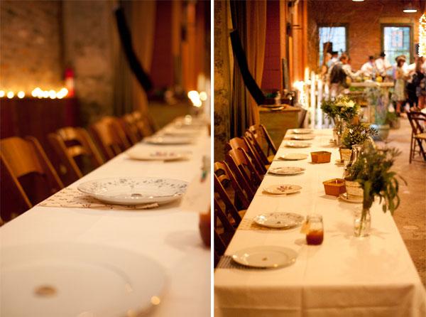 West Ervin wedding head table