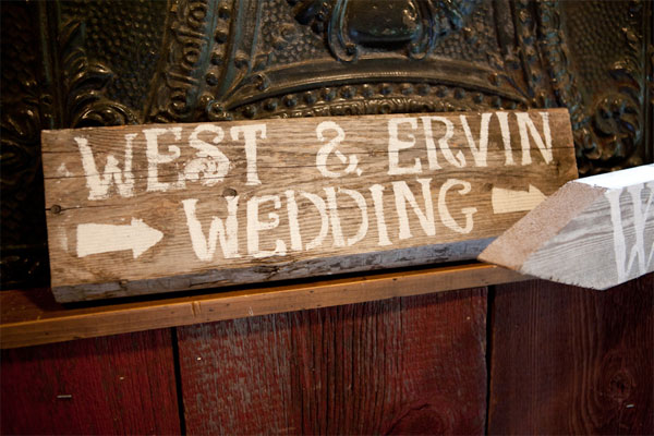 West & Ervin Wedding sign