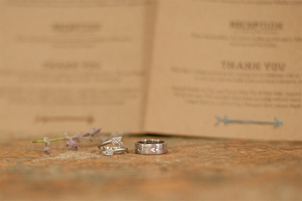 West Ervin wedding rings (arrow designs)