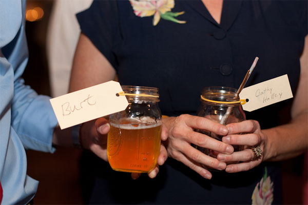 West Ervin wedding guests enjoying handcrafted cocktails