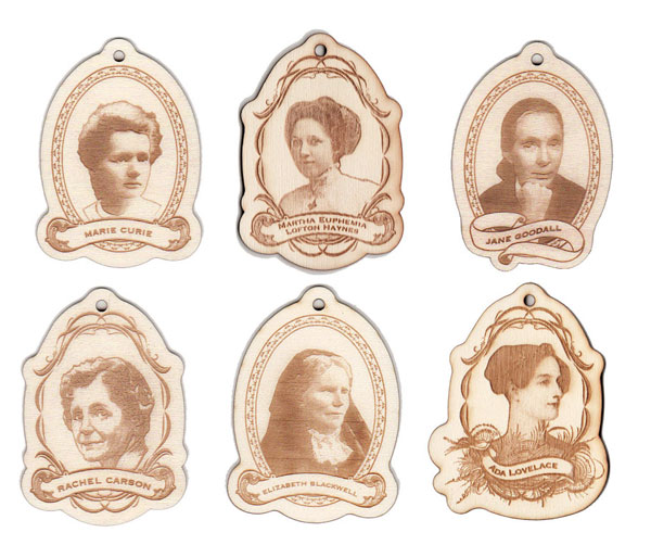 Women of Science ornaments