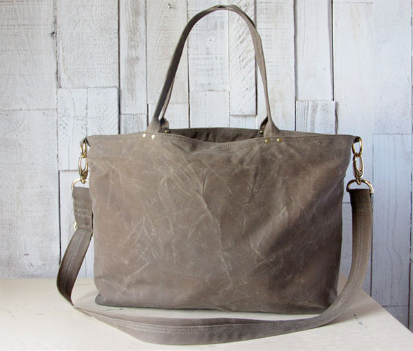 handmade waxed cavas bag