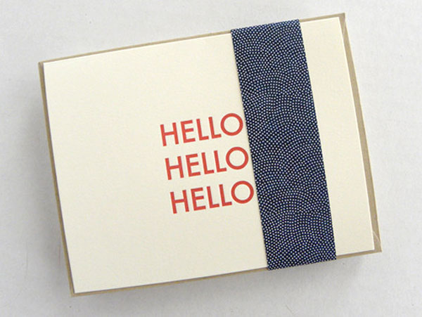 handmade hello greeting cards