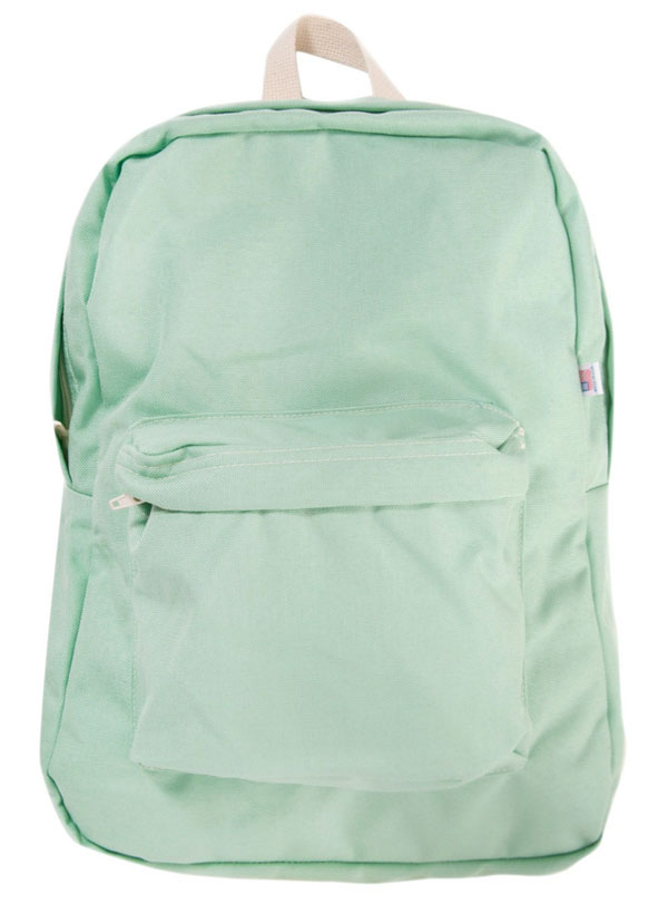 seafoam green backpack