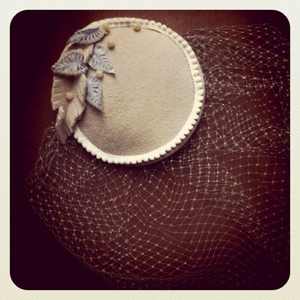 handmade vintage cocktail hat