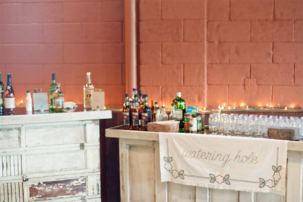 diy wedding bar
