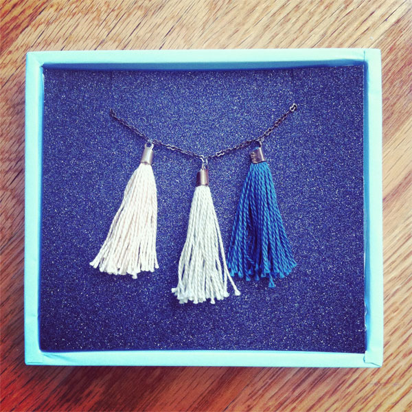 handmade tassel necklace box