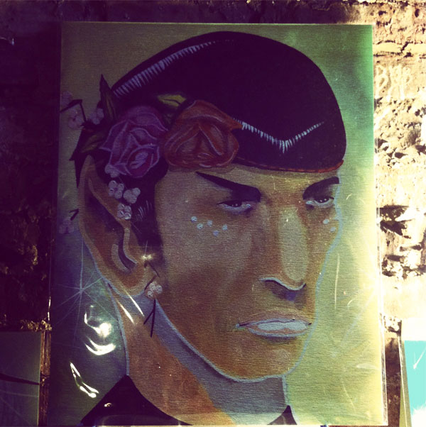 spock painting by Anna Todaro