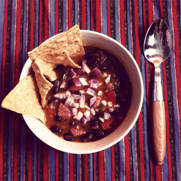 Splendid Table's cuban black bean stew