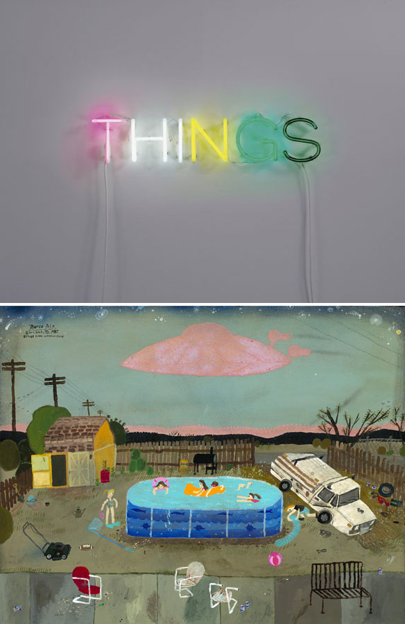 art by Martin Creed; painting by Esther Pearl Watson