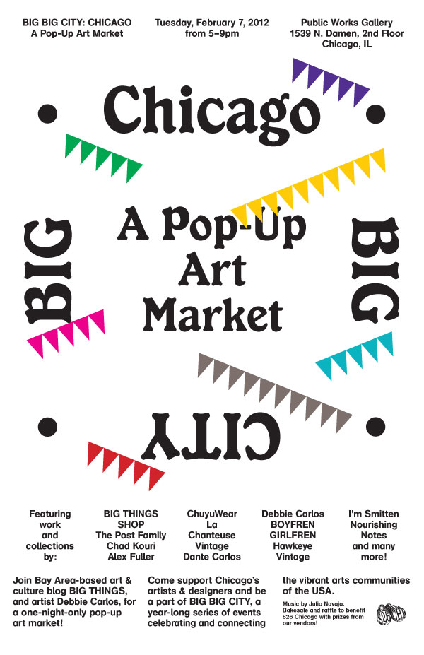 BIG BIG CITY: Chicago art market poster