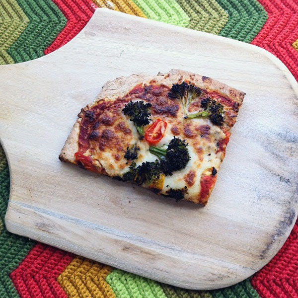 healthy wheat & broccoli pizza