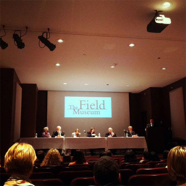financial panel at the Field Museum