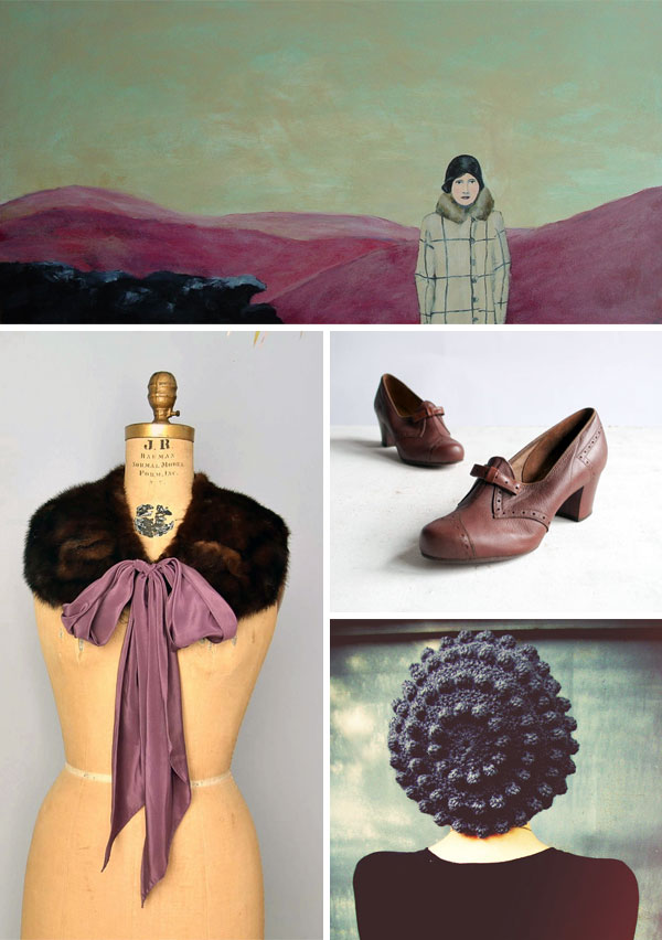 vintage inspired fashion and art from Etsy