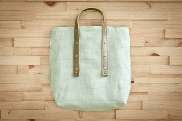 handmade mint bag