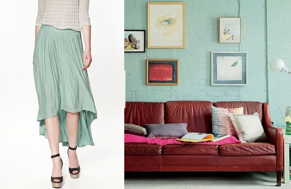 mint green fashion and interior design