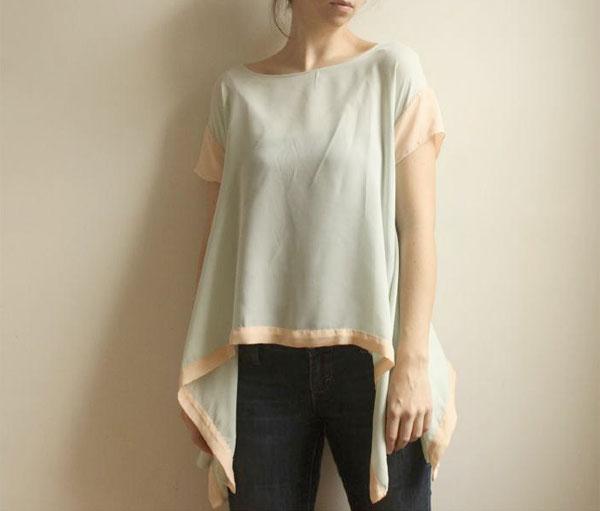 Leanimal handmade seafoam blouse