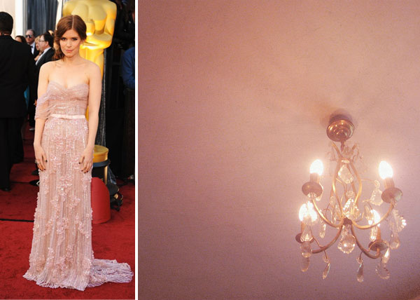 Kate Mara at the 2012 Oscars red carpet