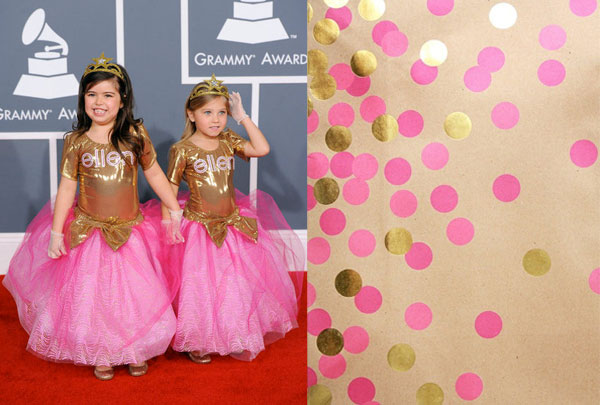 Sophia Grace and Rosie at the 2012 Grammys Red Carpet